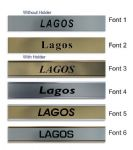 Lagos Clock Name Plate |World Time Zone City Wall clocks Sign custom Plaque